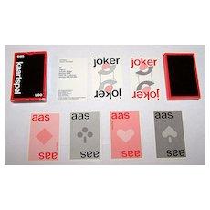 "Carta Mundi ""een kaartspel"" Playing Cards, Ltd. Ed. (2500), Robert Van Rixtel Designs, c.1985"