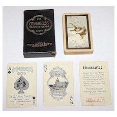 """USPC """"Congress 606 Bridge"""" Playing Cards, """"The Flight"""", c.1926"""