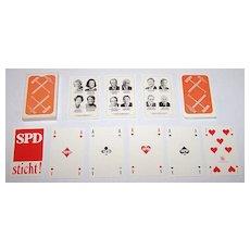 """Karavelle (Belgium) """"SPD"""" (""""Sozialdemokratische Partei Deutschlands"""" -- Social Democratic Party of Germany) Skat Playing Cards, c.1976"""