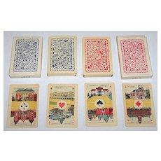 "Twin Decks La Turnhoutoise, S.A. ""Piket"" Playing Cards, $35/ea., c.1920"