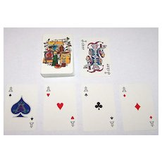"""Nintendo """"Maxim Freeze Dried Coffee"""" Playing Cards, Artist Unknown, c.1960s"""