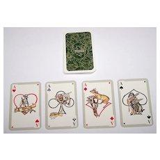 """ASS """"Das Jaegerkartenspiel"""" (""""Hunter Cards"""") Skat Playing Cards, Paul Parey Publisher, """"Wild und hund"""" Magazine, Walter Niedl Designs, c.1976"""