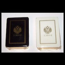 """Twin Decks """"Erte"""" Playing Cards (Cards Only) -- $75 each, $150 for pair; Sobranie of London, Carta Mundi, c.1983"""