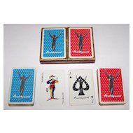 "Double Deck Waddington ""Healthguard Knitwear"" Pin-Up Playing Cards, Healthguard Knitwear Adv., c.1950s"