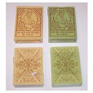 """Twin Decks Editions Dusserre (Boechat Frères) """"Jeu des Philosophes de L'An II"""" Playing Cards, c.1987 ($15/ea. separate)"""