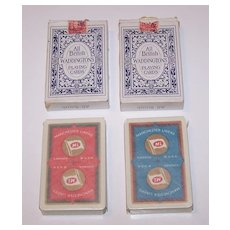 "Twin Decks Waddington ""Manchester Liners"" Maritime Playing Cards, c.1955 ($15/ea. separate)"