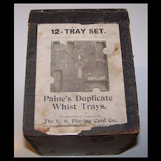 """Duplicate Whist Co. """"Paine's Duplicate Whist Trays,"""" c.1899"""