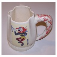 "Palm Springs Ceramics ""Canasta Mug,"" c.1950"