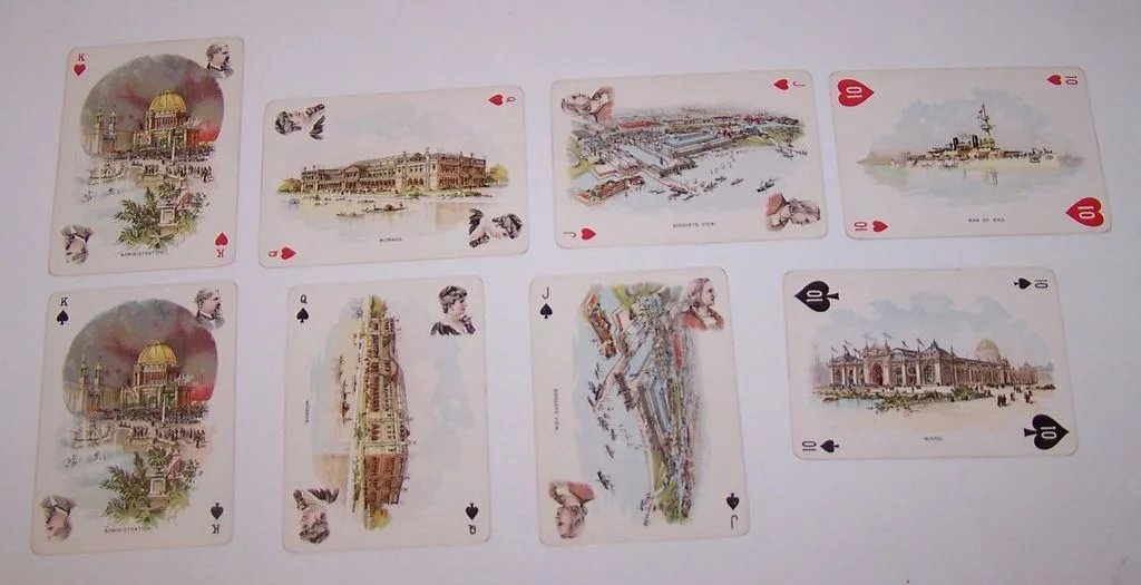 Winters Art Litho Columbian Exposition Playing Cards C