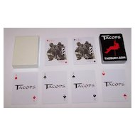 """Tactical & Survival Specialties, Inc. """"Tacops"""" Advertising Playing Cards"""