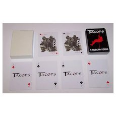 "Tactical & Survival Specialties, Inc. ""Tacops"" Advertising Playing Cards"