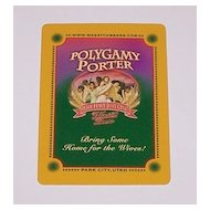 """Gemaco """"Polygamy Porter"""" Playing Cards, Wasatch Beers"""