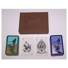"""Double Deck Goodall """"Patience"""" Playing Cards, Art Deco Backs, c.1918"""