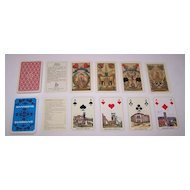 "2 Decks German Mining Skat Playing Cards $20/ea.: (i) Rupert Höll ""Bergmannskarte,"" Facsimile Edition [Original by Industrie Comptoir c.1840]; (ii) ASS (?) ""Saarberg"", c.1981"