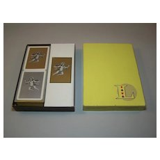 Lanselle Bridge Set, Fournier Playing Cards, Score Pads, c.1960