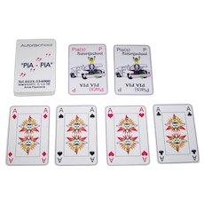"Pia Pia ""Autorijschool"" Playing Cards, Ltd. Ed. (?/60), Jose Verwer and Netty Schipper Designs, Thick Plastic or Linoleum (?), c. 1990s"