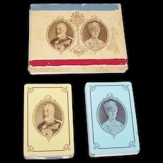 """Double Deck Canadian Playing Card Co. """"Silver Jubilee King George V"""" Playing Cards, Commemorating 25th Anniversary of Ascendancy of King George V and Queen Mary, c.1935"""