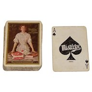 """""""Mistletoe Ham and Bacon"""" Advertising Playing Cards (52/52, NJ), Maker Unknown, c.1910"""