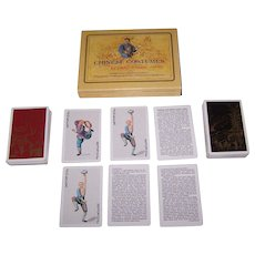 """Double Deck Fournier Playing Cards, """"Chinese Costumes,"""" c.1984"""