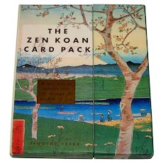 """Stewart, Tabori & Chang """"The Zen Koan Card Pack,""""A Set of Fortune/Wisdom Cards and a Book, Timothy Freke Creator/Author"""