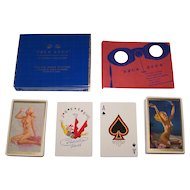 """Double Deck Brown & Bigelow """"Yeux Doux"""" Pin-Up Playing Cards, Gil Elvgren and Zoe Mozert Designs, c.1946"""