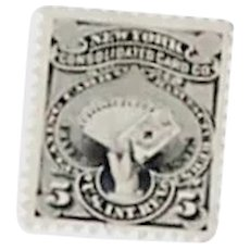 New York Consolidated Card Company Private Die Proprietary Stamp, Scott #RU14b, VF, c.1876-83