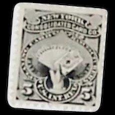 New York Consolidated Card Company Private Die Proprietary Stamp, Scott #RU14b, VF, c.1876-83