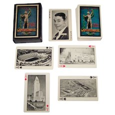 """P.J. Wenger Co. """"Xth Olympiad Playing Cards,"""" """"Olympic and Movie Star Souvenir,"""" c.1932"""