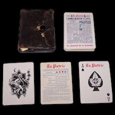 """Consolidated Litho """"La Patrie"""" Advertising Playing Cards, """"La Patrie"""" Newspaper c.1926"""