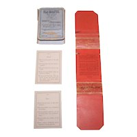 """Decker & Decker """"Bible Characters"""" Card Game, Small Edition, c.1889"""