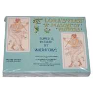 "Double Deck Carta Mundi ""Flora's Feast: A Masque of Flowers"" Playing Cards, U.S. Games Systems Publisher, Walter Crane Designs, Winterthur Museum & Gardens"