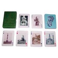 """Clemente Jacques """"Monumentos e Imagenes de Mexico"""" Souvenir Playing Cards, c.1950s"""