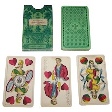 """VSSF """"Preussisches Doppelbild"""" (""""Prussian Double Ended"""") Playing Cards, c.1885"""