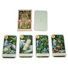"""Deutsches Kalisyndikat G.m.b.H. """"Kali-Quartett – Deutsche Nutzpflanzen"""" (""""Potash Quartett – German Crops"""") Quartet Card Game, c.1930"""