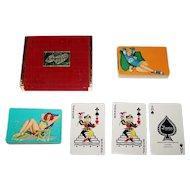 "Double Deck Arrco ""Esquire"" Pin-Up Cards, Al Moore Designs, c.1951"