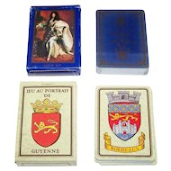 2 Decks Dusserre Playing Cards, $15/ea.: (i) Jeu au Portrait de Guyenne, c.1989; and (ii) Les Grands Rois de France, 1987