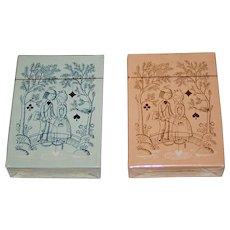 "Twin Decks Grimaud ""Jeu des Amoureux de Peynet"" Playing Cards, Raymond Peynet Designs, 1974"
