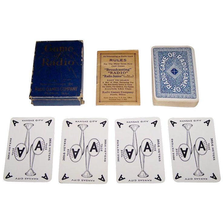 Radio Games Company Game Of Radio Card Game C 1924 Two For His