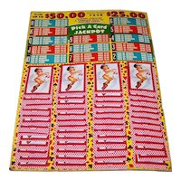 "Caesar's Palace Las Vegas ""Pick A Card Jackpot"" Game Board, Joyce Ballantyne ""Cowgirl"" Playing Cards"