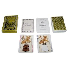 """Grimaud """"Les Fromages de France"""" Playing Cards, Fernand Woutaz Conception and Content, c.1981"""