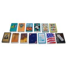 13 Mint, Sealed Decks Various Playing Cards (No Boxes), $5/ea.: (i) 4 Arrco; (ii) 3 Western; (iii) 2 Carta Mundi; (iv) 1 Nabisco; (v) 1 TDC Lake Placid Olympics; (vi) 1 Hoyle Country Music (New Suits); and (vii) 52 Differant [sic] Pharoanic [sic]
