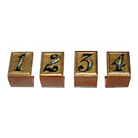 Set of 4 Painted Metal Bridge Table Markers
