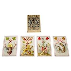 "Wezel & Naumann ""Deutsche Spielkarte"" Playing Cards, T.O. Wegel Publisher, Ludwig Burger Designs, c.1885"