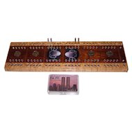 """9/11 Cribbage Board (""""Never Forget""""), w/ World Trade Center Souvenir Playing Cards"""