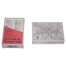 "2 Decks Carta Mundi Map Playing Cards, $15/ea.: (i) ""New York on Playing Cards""; and (ii) ""London Underground"""