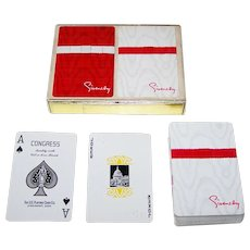 """USPC Congress """"Braille"""" Playing Cards, for Givenchy, c.1970s"""