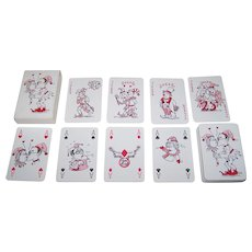"Spanbroek ""Zilveren Huwelijk"" (""Silver Wedding"") Playing Cards, Fietje & Sjef Kenter Self-Published, Wim Schoorl Designs, Ltd. Ed. (__/150), c.1998"