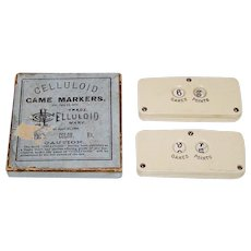 "Pair Celluloid Co. ""Celluloid Game Markers"", c.1885"