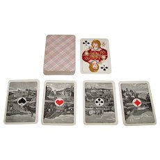 """VSSF """"Rhineland Pattern"""" Playing Cards, Scenic Aces, c.1890"""