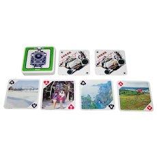 "Nintendo ""Blue Sky Tōhoku"" Railroad Souvenir Playing Cards, Square Shape, c.1990s (?)"